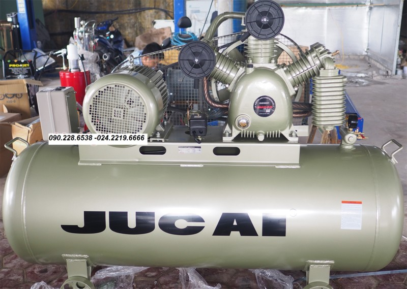 ảnh thật máy nén khí Jucai 500L AW10012