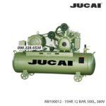 Máy nén khí Jucai 500 lít model AW100012 2 cấp 15HP, 12 BAR, 500L