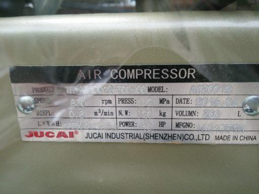 Thông số máy nén khí Jucai 300L 2 cấp